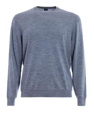 Fedeli: crew necks - Melange combed wool sweater