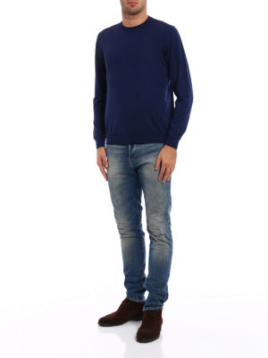 Fedeli: crew necks online - Combed wool sweater