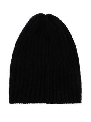 FEDELI: berretti online - Berretto in cashmere a coste nero