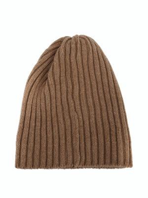 FEDELI: berretti online - Berretto in cashmere a coste cammello
