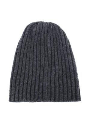 FEDELI: berretti online - Berretto in cashmere a coste grigio