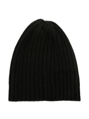 FEDELI: berretti online - Berretto in cashmere a coste fango