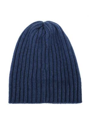 FEDELI: berretti online - Berretto in cashmere a coste carta zucchero