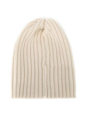 FEDELI: berretti online - Berretto in cashmere a coste bianco