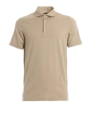 FEDELI: polo shirts - Zero organic cotton jersey polo