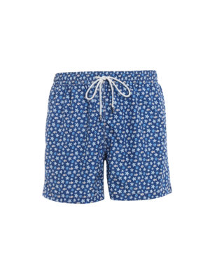 Fedeli: Swim shorts & swimming trunks - Blue beach print swim pants