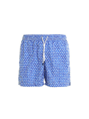 Fedeli: Swim shorts & swimming trunks - Madeira printed swim shorts