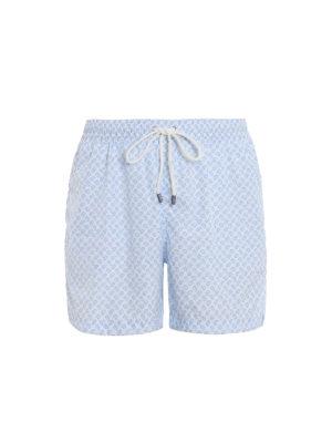 d358a32969 FEDELI: Costumi piscina e boxer - Boxer da mare bianchi con stampa all  over. Fedeli. White all over print swim shorts