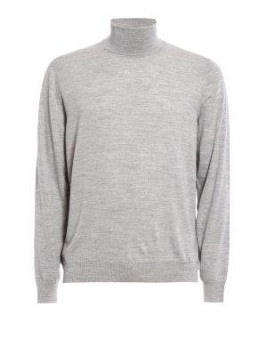 Fedeli: Turtlenecks & Polo necks - Melange combed wool turtleneck