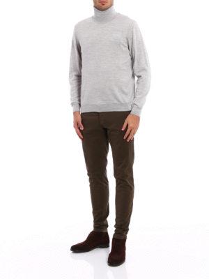 Fedeli: Turtlenecks & Polo necks online - Melange combed wool turtleneck