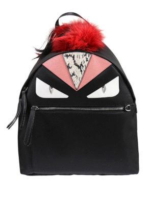 Fendi: backpacks - Bag Bugs nylon and leather backpack