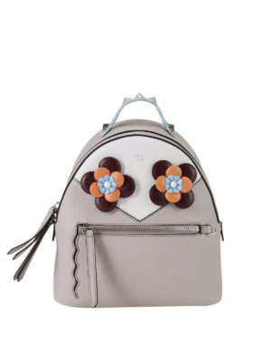 Fendi: backpacks - Floral embellished mini backpack