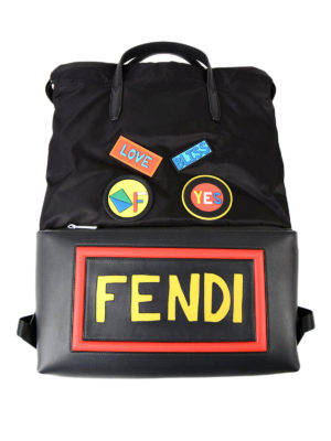 Fendi: backpacks - Funny logo patches backpack