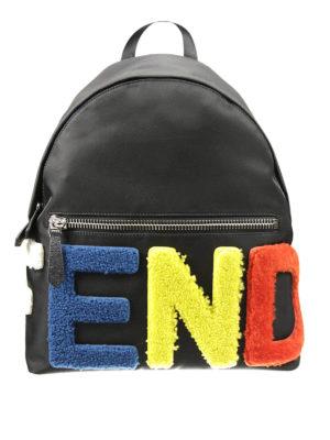 Fendi: backpacks - Id-ea backpack with insert