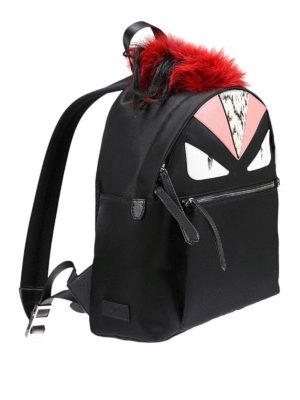 Fendi: backpacks online - Bag Bugs nylon and leather backpack