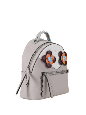 Fendi: backpacks online - Floral embellished mini backpack