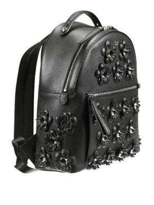 Fendi: backpacks online - Flowerland leather backpack