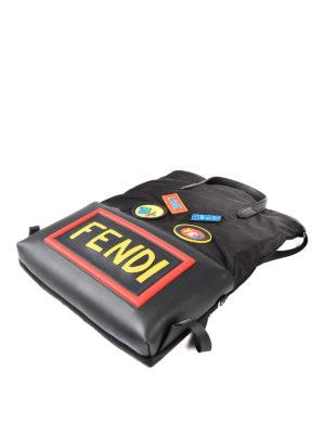 Fendi: backpacks online - Funny logo patches backpack