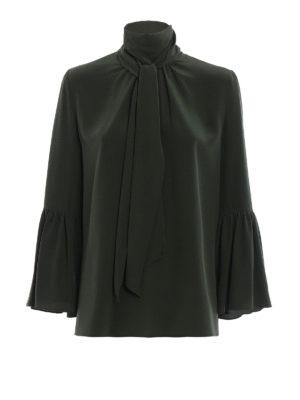 Fendi: blouses - Pussy bow silk blouse