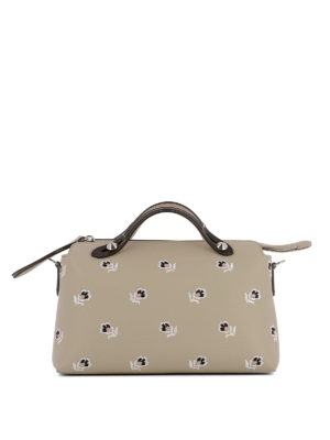 Fendi: bowling bags - By The Way embroidered bowling bag