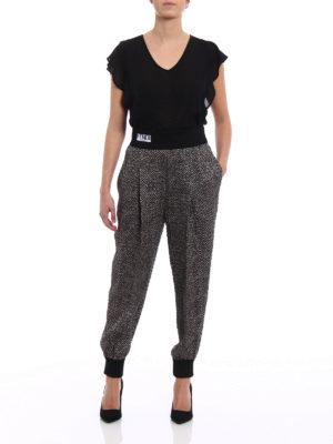 Fendi: casual trousers online - Pop chevron cloqué trousers