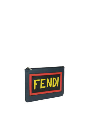 Fendi: clutches online - Think Fendi leather zipped clutch