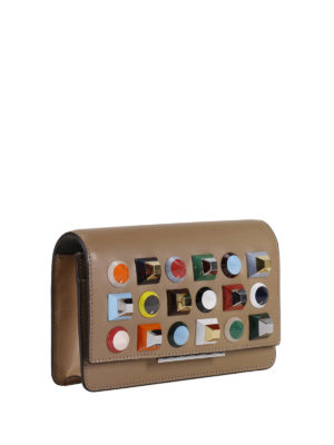 Fendi: clutches online - Wallet on Chain Rainbow stud clutch