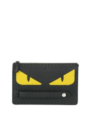 FENDI: pochette - Clutch con occhi Bag Bugs gialli