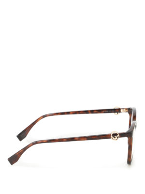 Fendi: glasses online - Gold-tone logo eyeglasses