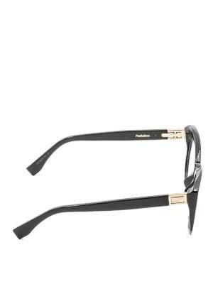 Fendi: glasses online - Peeakaboo black acetate eyeglasses