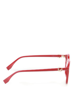 Fendi: glasses online - Red acetate optical glasses