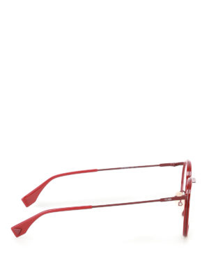 Fendi: glasses online - Red metal optical glasses