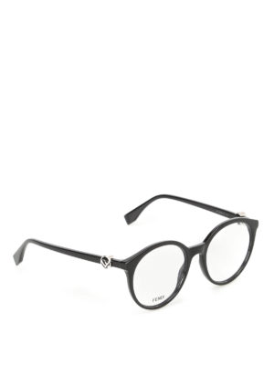 Fendi: glasses - Silver-tone logo optical glasses