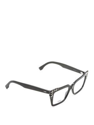 Fendi: glasses - Stud detail acetate eyeglasses