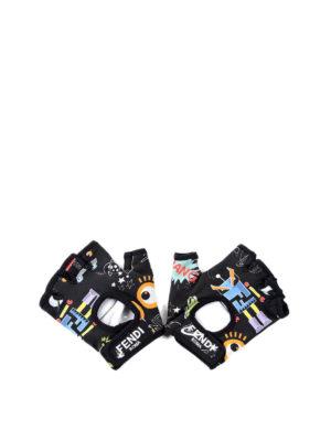 Fendi: gloves - Fendi Faces gloves
