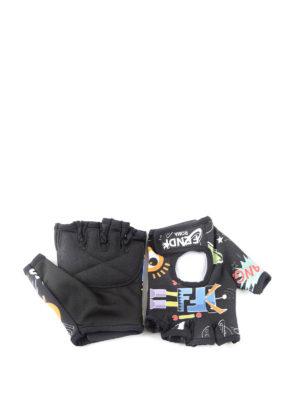 Fendi: gloves online - Fendi Faces gloves