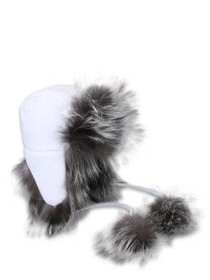 FENDI: cappelli - Berretto da aviatore con pelliccia di volpe