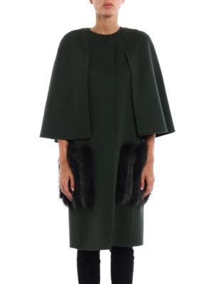 Fendi: knee length coats online - Fox fur maxi pockets detailed coat