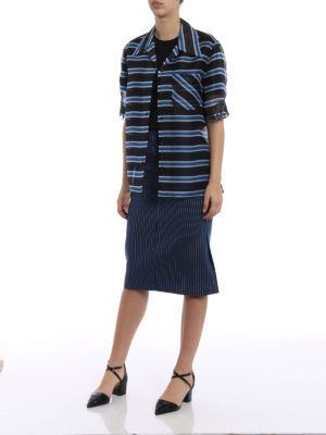 Fendi: Knee length skirts & Midi online - Striped cotton and silk drill skirt