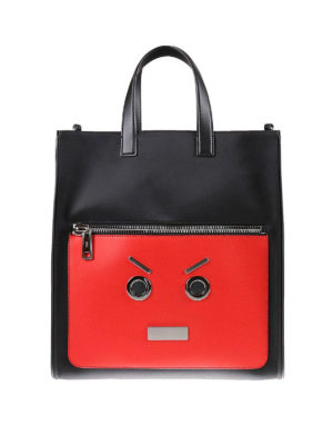Fendi: laptop bags & briefcases - Emoticon detail nylon bag