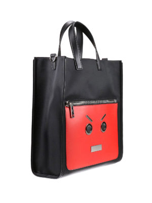 Fendi: laptop bags & briefcases online - Emoticon detail nylon bag