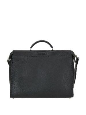 FENDI: borse da ufficio - Borsa Peekaboo Regular in pelle a grana