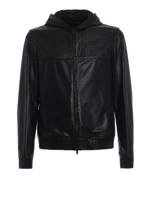 Fendi: leather jacket - Light leather unlined jacket
