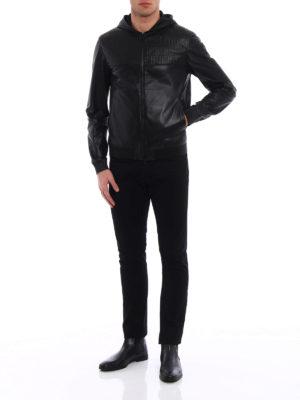 Fendi: leather jacket online - Light leather unlined jacket