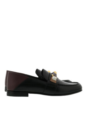 Fendi: Loafers & Slippers - Embellished leather slippers