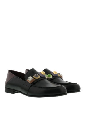 Fendi: Loafers & Slippers online - Embellished leather slippers