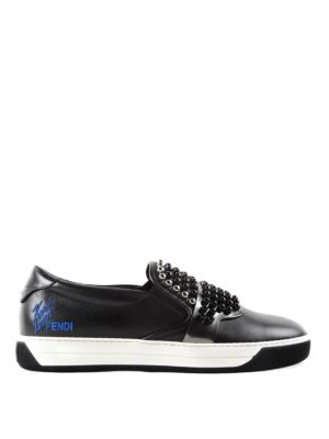 Fendi: Loafers & Slippers - Studded slippers