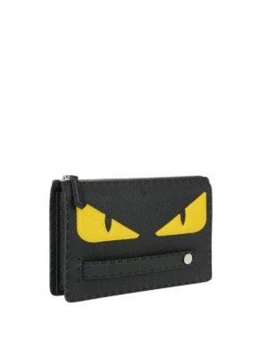 FENDI: pochette online - Clutch con occhi Bag Bugs gialli
