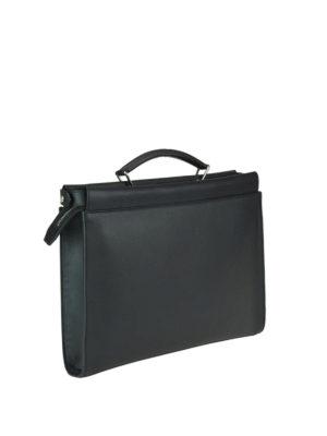 FENDI: borse da ufficio online - Borsa sottile Peekaboo Fit in pelle