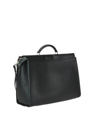 FENDI: borse da ufficio online - Borsa Peekaboo Regular in pelle a grana